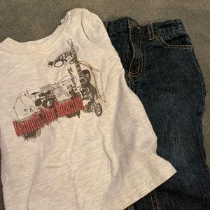 Kenneth Cole shirt and jeans